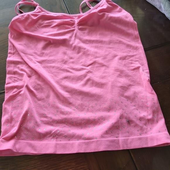 PINK STRETCH TANK/NO NAME/ADOLESCENT/ B1